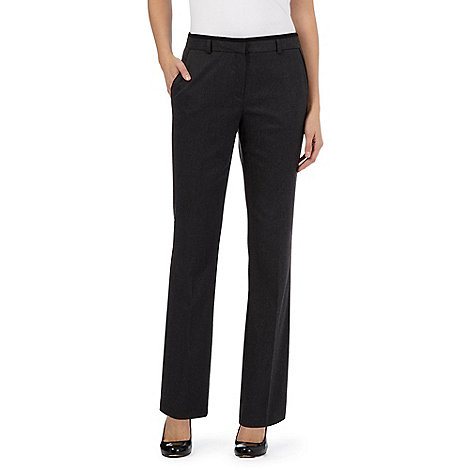 Principles Petite by Ben de Lisi - Dark grey tipped straight leg trousers