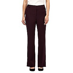 Principles by Ben de Lisi - Dark purple kick flare trousers