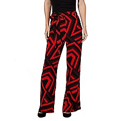 Principles by Ben de Lisi - Red retro self tie flared trousers