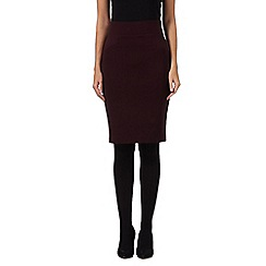 Principles by Ben de Lisi - Dark purple slim and trim skirt