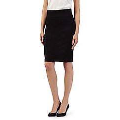 Principles Petite by Ben de Lisi - Designer black slim and trim skirt