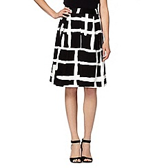 Principles by Ben de Lisi - Designer black checked skirt