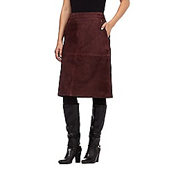 Principles by Ben de Lisi - Dark purple suede A line skirt