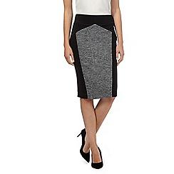 Principles by Ben de Lisi - Black colour block slim and trim skirt