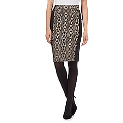 Principles by Ben de Lisi - Black hexagon panelled skirt