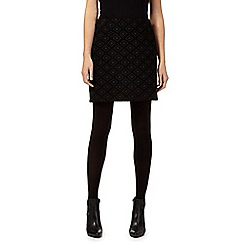 Principles by Ben de Lisi - Black diamond jacquard mini skirt