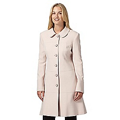 Principles Petite by Ben de Lisi - Designer light pink textured button coat