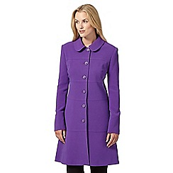 Principles by Ben de Lisi - Designer purple textured button coat