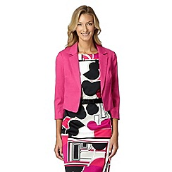 Principles Petite by Ben de Lisi - Designer bright pink textured diamond jacket