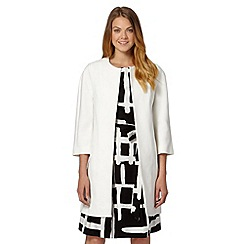 Principles by Ben de Lisi - Designer ivory textured coat