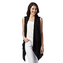 Principles by Ben de Lisi - Designer black sleeveless waterfall jacket