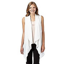 Principles by Ben de Lisi - Designer ivory sleeveless waterfall jacket