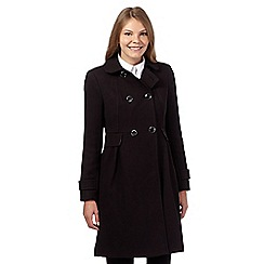 Principles by Ben de Lisi - Black textured dolly coat