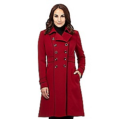 Principles Petite by Ben de Lisi - Designer dark red military coat