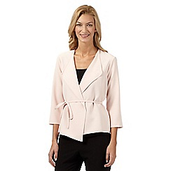 Principles by Ben de Lisi - Designer light pink crepe waterfall jacket