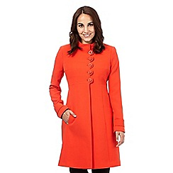 Principles by Ben de Lisi - Dark orange scalloped dolly coat