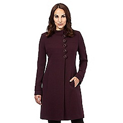 Principles Petite by Ben de Lisi - Dark purple scalloped dolly coat