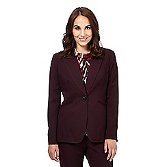 Principles by Ben de Lisi - Dark purple longline suit jacket