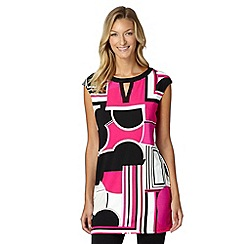 Principles Petite by Ben de Lisi - Designer pink cloud colour block tunic