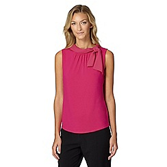 Principles by Ben de Lisi - Designer pink mixed fabric bardot top