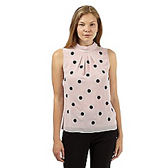 Principles by Ben de Lisi - Designer light pink spot embroidered top