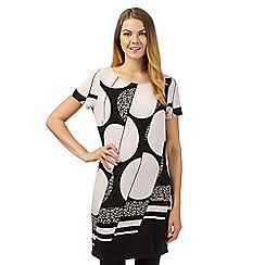 Principles Petite by Ben de Lisi - Designer black spotted graphic print tunic