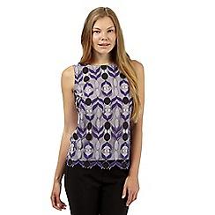 Principles by Ben de Lisi - Designer purple mesh vest
