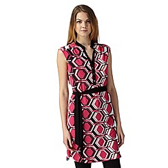 Principles by Ben de Lisi - Designer bright pink hexagon print tunic
