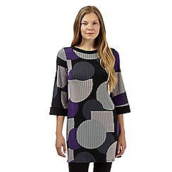 Principles by Ben de Lisi - Designer black abstract spot tunic