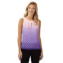 Principles by Ben de Lisi - Designer purple dip dye circle burnout vest