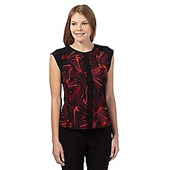 Principles by Ben de Lisi - Orange fan print panel top