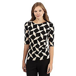 Principles Petite by Ben de Lisi - Black retro textured top