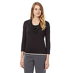 Principles Petite by Ben de Lisi - Black cowl neck top