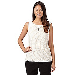 Principles by Ben de Lisi - Designer ivory burnout sundial top