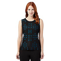 Principles by Ben de Lisi - Black Lace patterned top