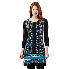 Principles by Ben de Lisi - Bright Turquoise jewell print tunic