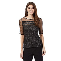 Principles by Ben de Lisi - Black sparkle jersey top