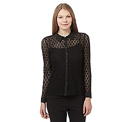 Principles by Ben de Lisi - Black lace shirt
