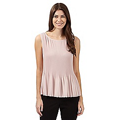 Principles by Ben de Lisi - Designer pale pink pleated vest