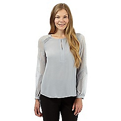 Principles by Ben de Lisi - Designer pale grey textured blouse