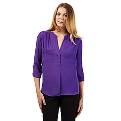 Principles by Ben de Lisi - Designer purple utility shirt