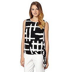 Principles by Ben de Lisi - Designer black checked knot top