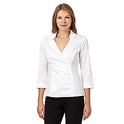 Principles by Ben de Lisi - Designer white cross over side zip shirt