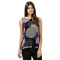 Principles Petite by Ben de Lisi - Purple spot stripe top