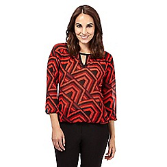 Principles by Ben de Lisi - Red geometric print blouse