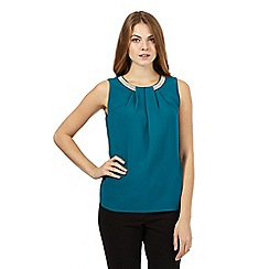 Principles by Ben de Lisi - Teal sleeveless top