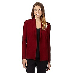 Principles by Ben de Lisi - Designer dark red ribbed edge to edge cardigan