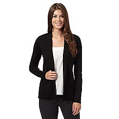 Principles by Ben de Lisi - Black ribbed edge to edge cardigan