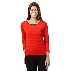 Principles Petite by Ben de Lisi - Dark orange textured striped jumper