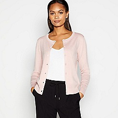 Principles by Ben de Lisi - Designer light pink lace shoulder jumper